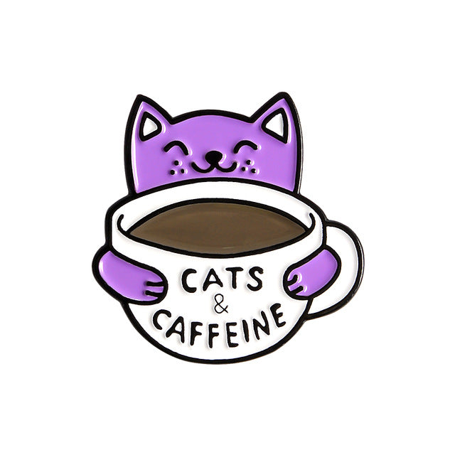 CATS & CAFFEINE Pin