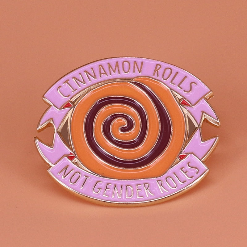 Cinnamon Rolls, Not Gender Roles Pin