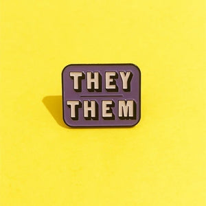 They Them Pronoun Pin