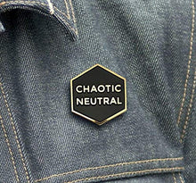 Chaotic Neutral Enamel Lapel Pin Badge Pins