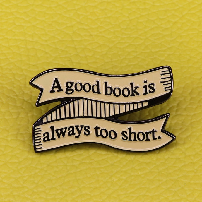 A Good Book Pin
