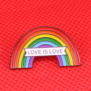 Rainbow Love Is Love Pin
