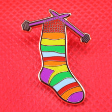 Rainbow Socks Pin