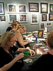 Workshop at 2010 Gallery Flame painting on copper