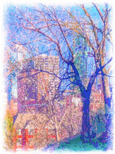 Load image into Gallery viewer, Kansas City though the Trees from Strawberry Hill