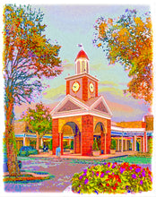 Load image into Gallery viewer, Prairie Village Clock Tower, Autumn