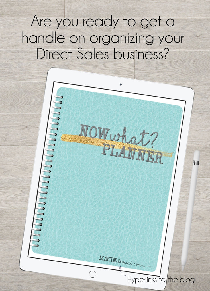 Makin it social Now What Digital Direct Sales Planner Teal Undated Get organized
