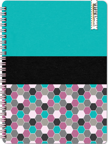 MakinItSocial Teal Geo Dot Notebook