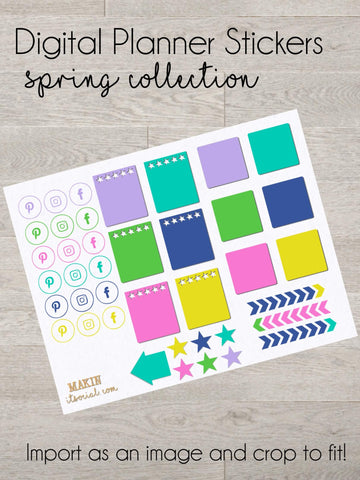 Spring Notes Stickers