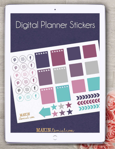 Makin It Social Digital Planner Stickers