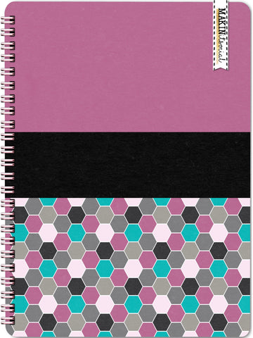MakinItSocial Pink Geo Dot Notebook