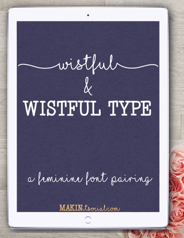 Makinitsocial fonts Wistful family of fonts