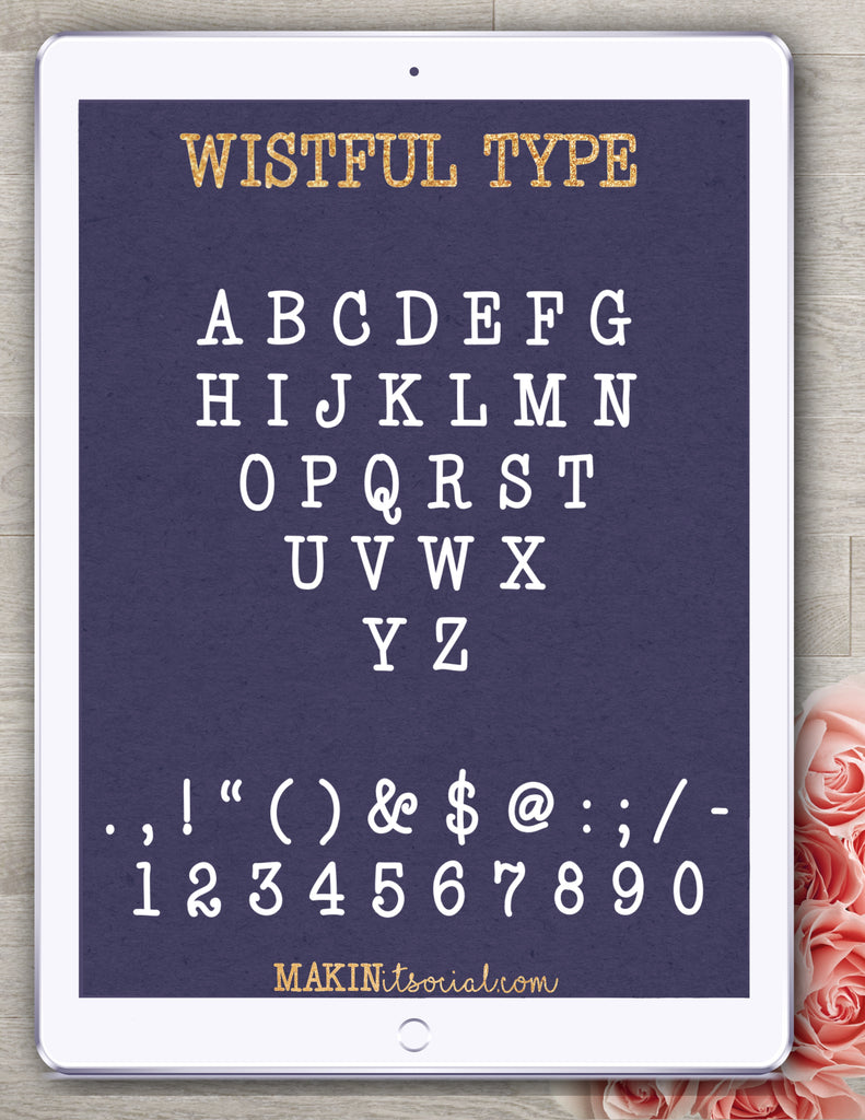 Makinitsocial fonts Wistful Type is the beautiful, more mature sister to Wistful example