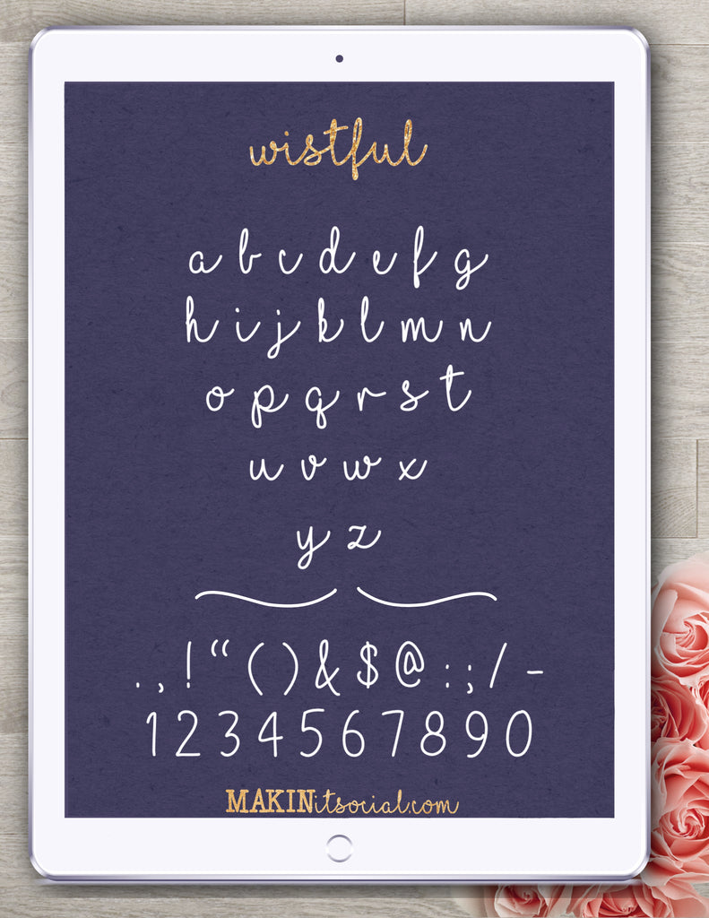 Makinitsocial fonts Wistful is a beautiful handlettered font example