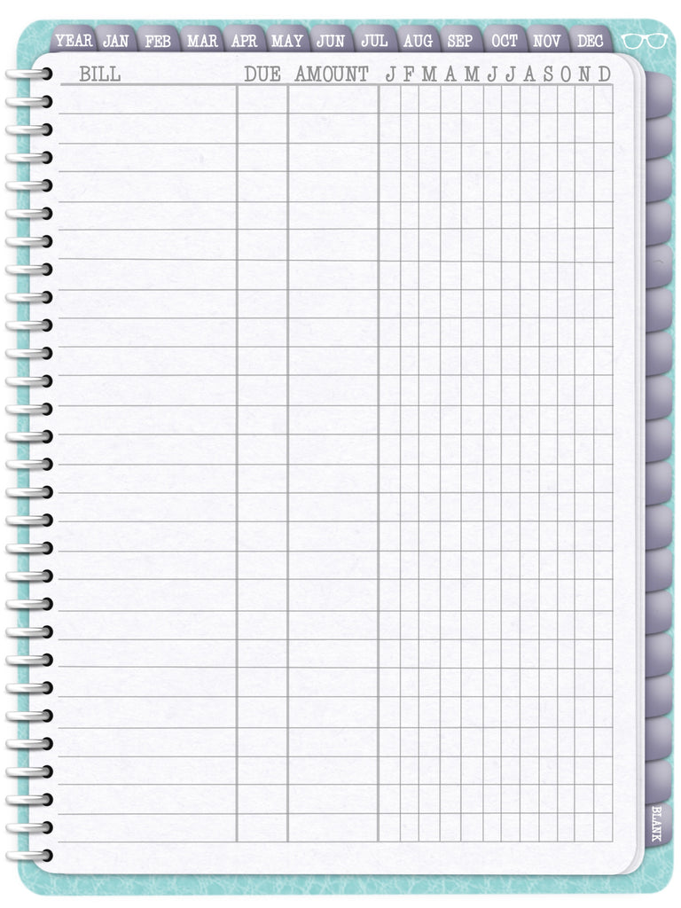 Bill Tracker Sheets