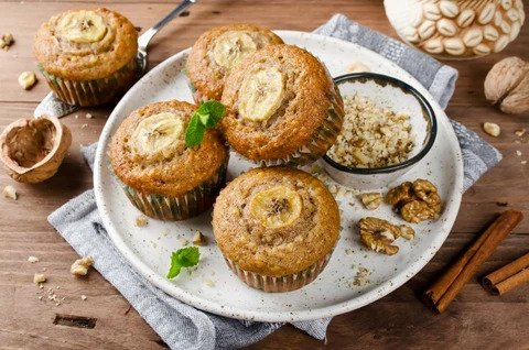 Superfood Rich Banana Muffins made with ChirpNation Cricket Powder