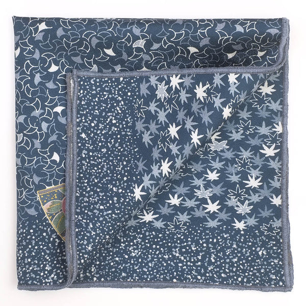 Kanagawa Japanese Silk Pocket Square