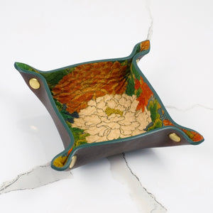 Brown and green mini valet tray