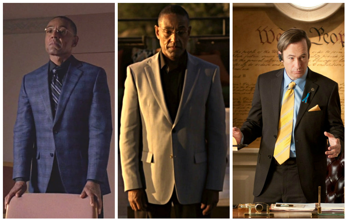 Breaking Bad Suits Giancarlo Esposito as Gus Fring and Bob Odenkirk as Saul Goodman