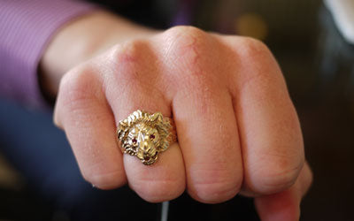 Gold Lion Ring