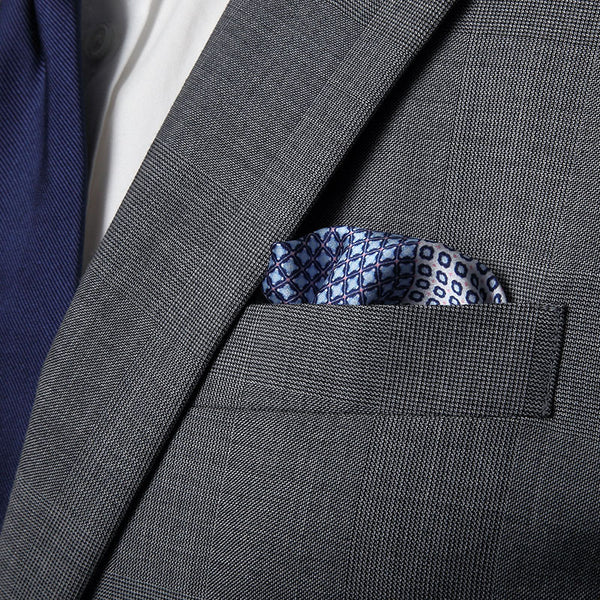 Midnight Pescara Pocket Square