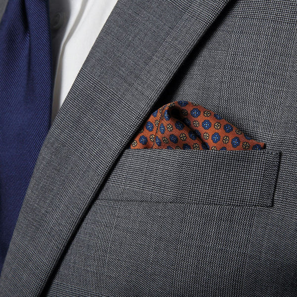 Apricot Palermo Pocket Square