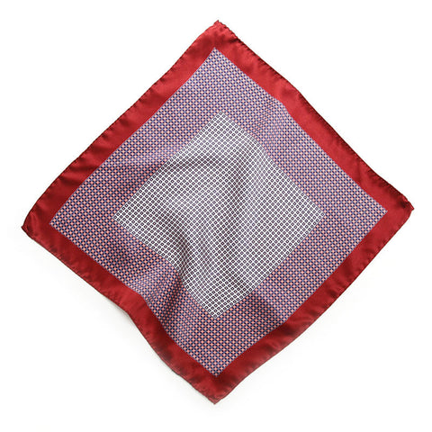 Cranberry Pescara Pocket Square