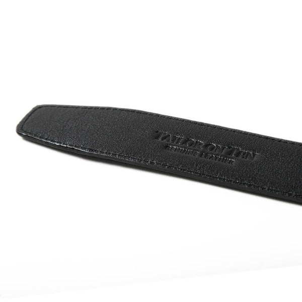 Thin Black Crosshatch Belt Strap