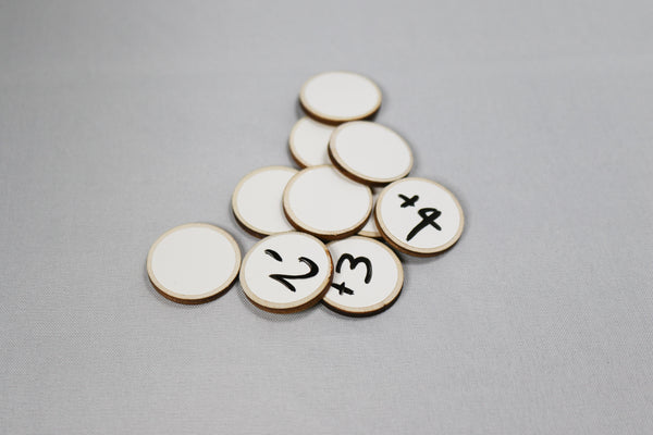 Dry Erase Wooden Tokens - Pack of 20