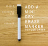 Dry Erase Wooden Tokens (Pack of 20)