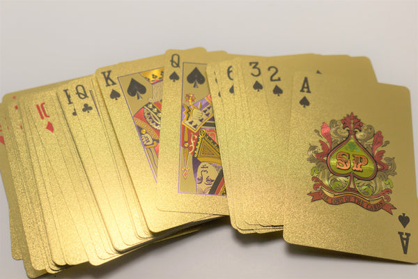 Gold Poker Playing Cards