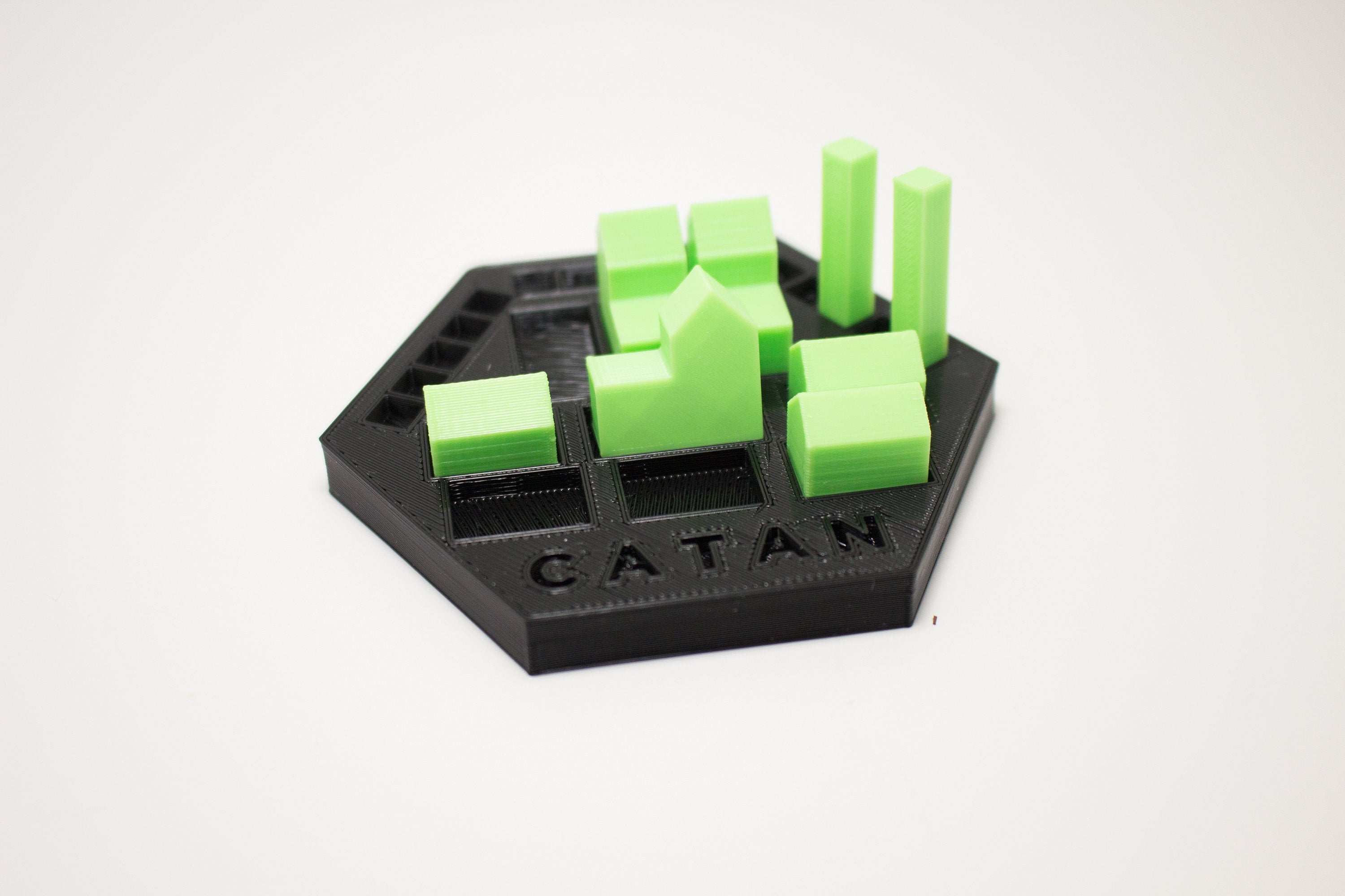image relating to Settlers of Catan Printable referred to as Settlers of Catan Holder Organizer 3D Print