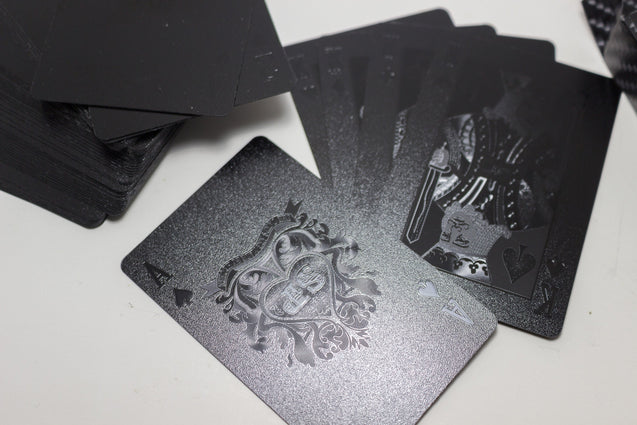 Black Poker Playing Cards