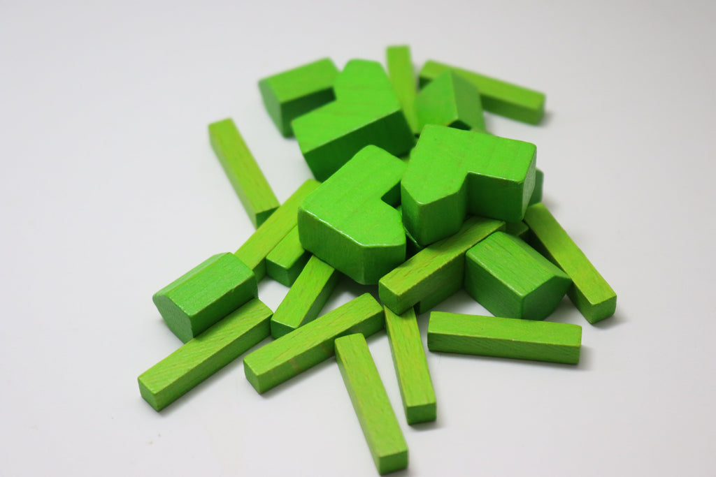YorksGamePieces White Wood Replacement Pieces for Settlers of Catan