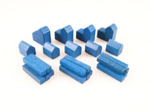 Settlers of Catan wood replacement pieces set