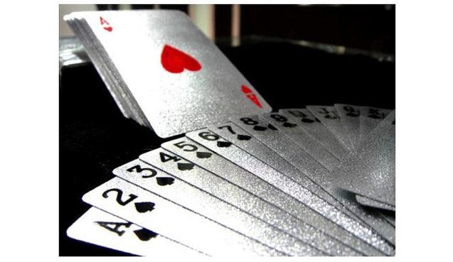 Silver Poker Playing Cards