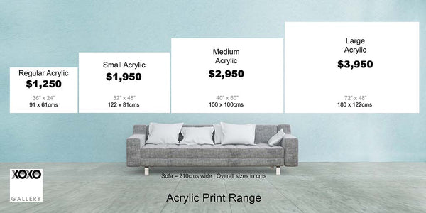 Acrylic Print Size Guide For XOXO Gallery