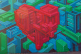 Geometric Heart graffiti street photography
