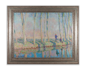 Jean-Pierre Hoschedé and Michel Monet on the Banks of the Epte by Monet