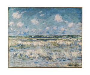 A Stormy Sea by Monet