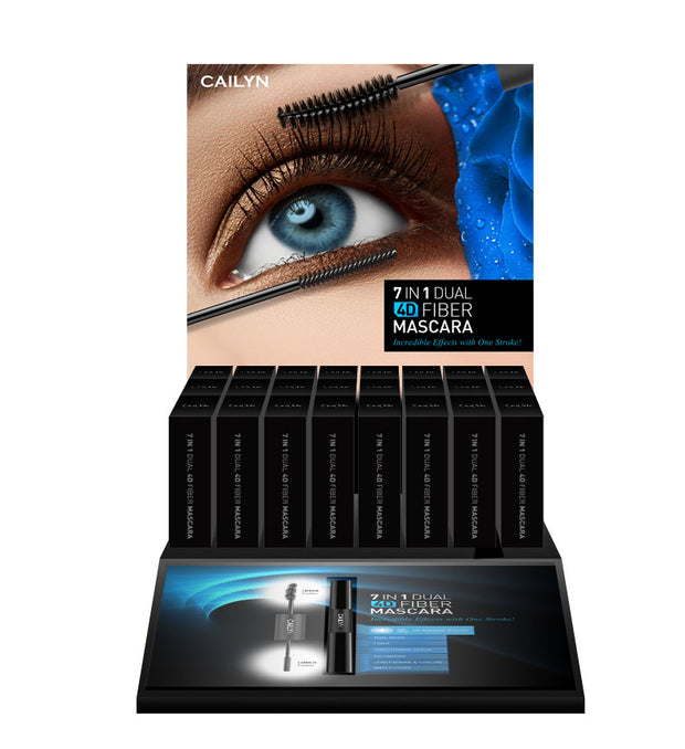 7 IN 1 DUAL 4D FIBER MASCARA DISPLAY SET