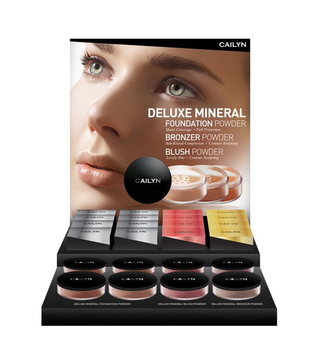 DELUXE MINERAL POWDER DISPLAY SET