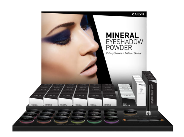 MINERAL EYESHADOW POWDER DISPLAY SET