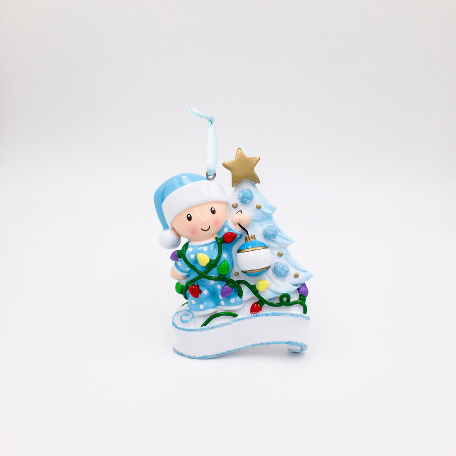 Baby's First Christmas Personalized Christmas Ornament / Baby Boy Ornament
