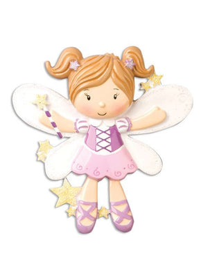 Fairy Girl Personalized Christmas Ornament / Gift for Kids