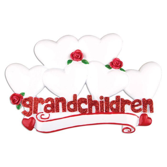 6 Grandchildren Personalized Christmas Ornament / Grandparents Ornament / Grandmother Ornament / Grandfather Ornament