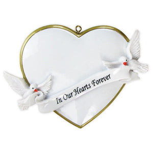 Memorial Personalized Christmas Ornament / In Our Hearts Forever