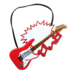 Electric Guitar Personalized Christmas Ornament / Music Ornament