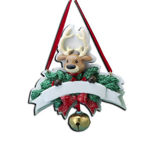 Reindeer Personalized Christmas Ornament / Baby's First Christmas