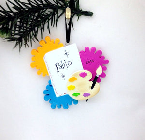Artist Personalized Christmas Ornament / Painter Christmas Ornament